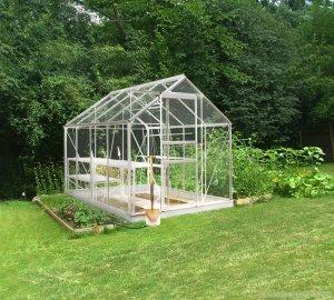 Halls Popular Silver 8x6 Greenhouse