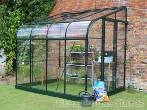 Halls Silverline Green 6x8 Lean to Greenhousestores