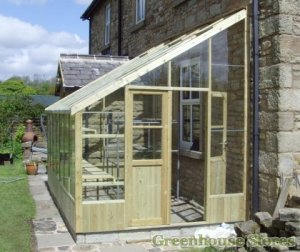 SwallowHeron8x14WoodenLeanToGreenhouse