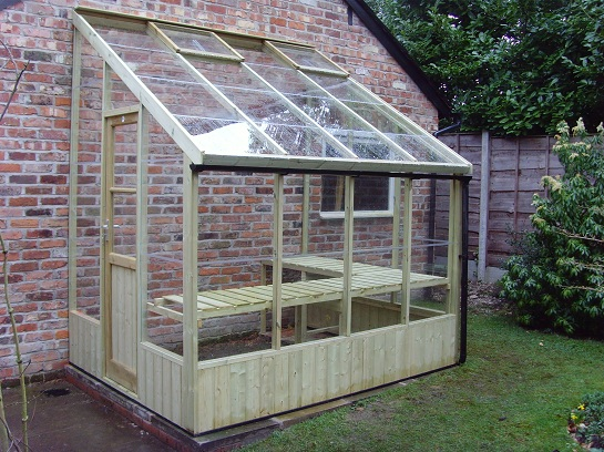 Swallow Dove Lean to 6x8 Greenhouse